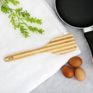 ديل كاسا ملعقة طبخ مسطحة من خشب الخيزران DC1327